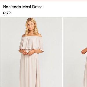 Show me your MuMu maxi bridesmaid dress